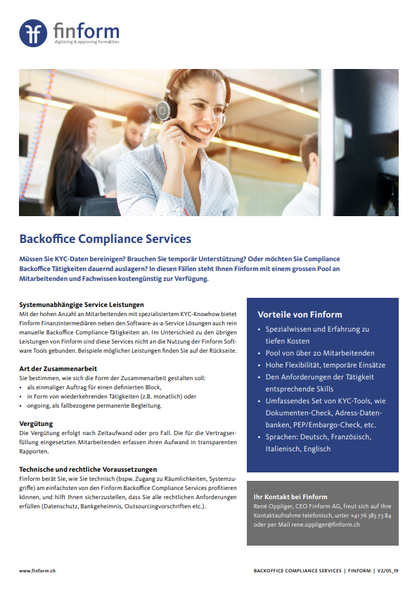 Backoffice Compliance Service